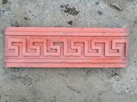 "RED CONCRETE PATTERNED EDGINGS 6"" HIGH 18"" LONG 10 NO"